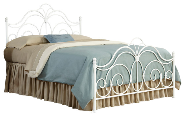 7f28fd1df65 Rhapsody Bed With Curved Grill Design and Finial Posts