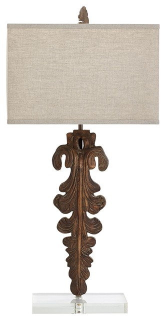 Soren Carved Wood Table Lamp