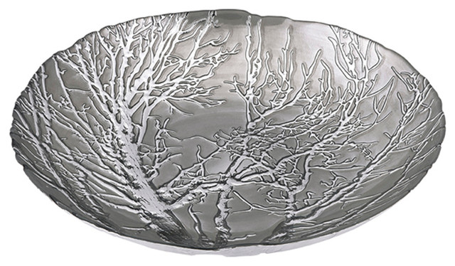 Modern And Unique Ethereal Tree Bowl Silver Plated Home Decor Contemporary Decorative Bowls