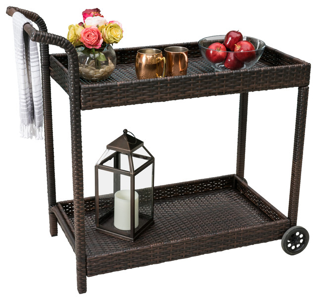 Outdoor Patio Serving Carts Goods