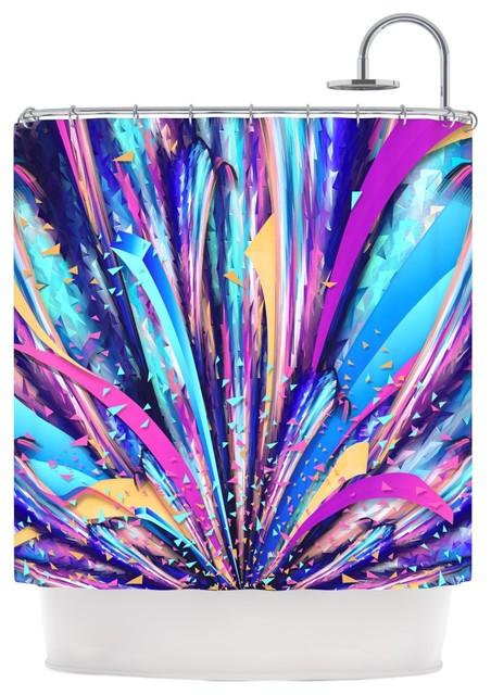 Purple ikat shower curtain - Kess Inhouse Danny Ivan Quot Enjoy Life Quot Purple Blue Shower