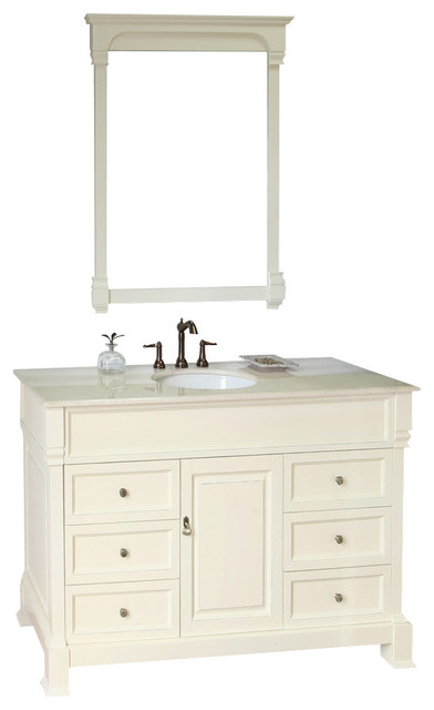 50 Inch Bathroom Vanity. 50 Inch Single Sink Vanity Wood Cream White