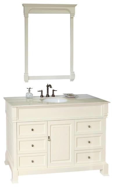 50 Inch Single Sink Vanity Wood Bathroom Vanities And Sink