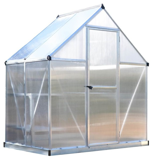 Polycarbonate Hobby Greenhouse, Silver
