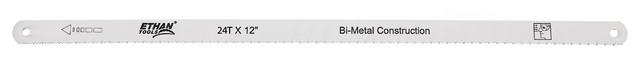 "Bi-Metal Hacksaw Blades, 100-Piece, 12"" X 1/2"", 24tpi."