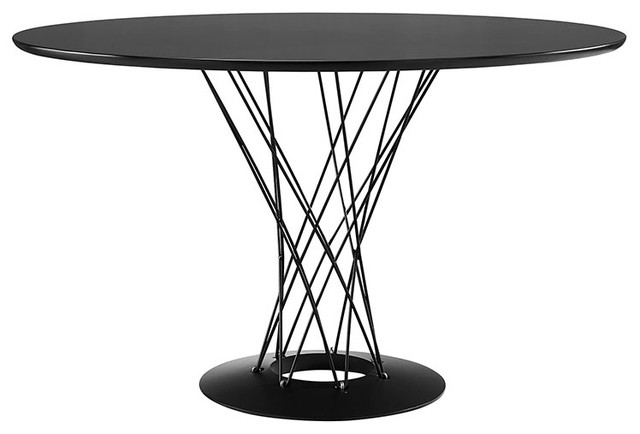 cyclone wood top dining table modern dining tables by yolo