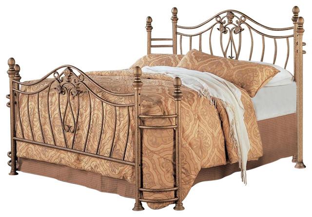 Sydney Antique Brushed Gold Iron Bed