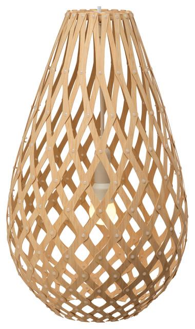 """Koura Bamboo Pendant, Natural, 20""""."""