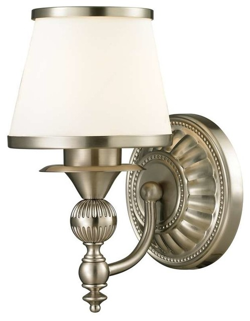 Bathroom Vanity Lights Traditional : Elk Lighting Smithfield Collection 1 Light Bath in Aged Brass - Traditional - Bathroom Vanity ...