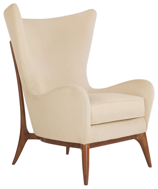 Alice Classic Wing Back Winter White Upholstered Club