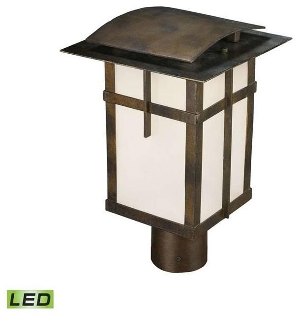 Trac Light Lantern Old Colony Outdoor Wall Mount Home: Elk Lighting San Fernando Outdoor Post/Pier Fixture
