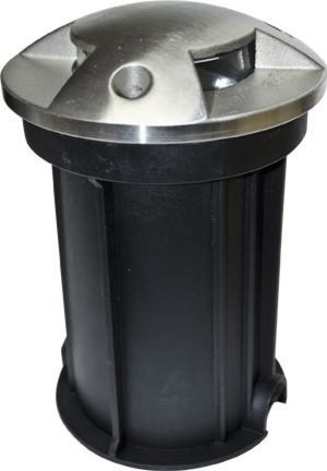 Stainless Steel In-Ground Drive-Over Well Light With PVC Sleeve, Stainless Steel
