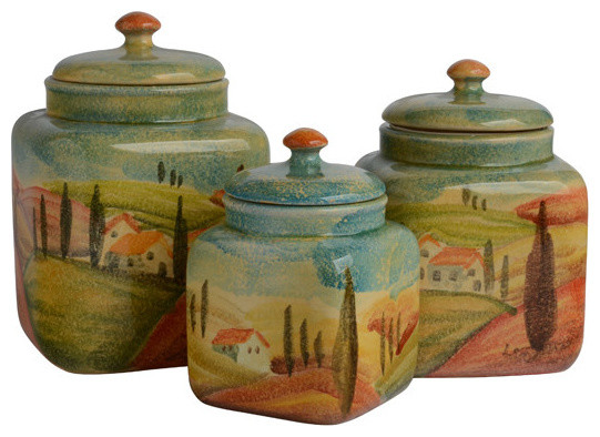 Sogno Toscano Canister Set - Farmhouse - Kitchen Canisters And ...