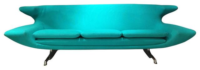 Turquoise Sofa.