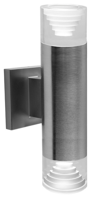 Bazz Luvia Led Outdoor Wall Fixture, Stainless Steel.