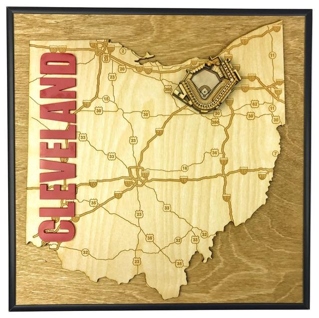 State Shape Art, Ohio, Cleveland, Progressive Field - Contemporary ...