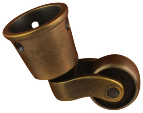 Hg 75 3 4 Quot Round Cup Caster Traditional Hardware By