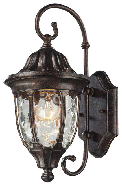 Traditional Bronze Wall Lights : Glendale 1-Light Outdoor Wall Sconce, Regal Bronze - Traditional - Outdoor Wall Lights And ...
