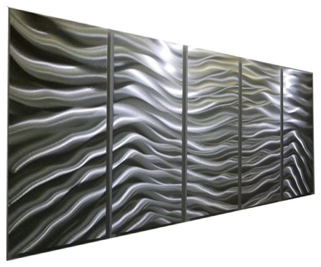 Wall Art Panels modern contemporary versatile silver panel metal wall art, silver