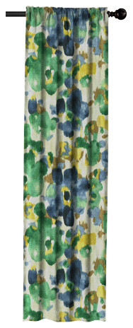 """Watercolor Floral Window Panel, 72"""" X 50"""""""