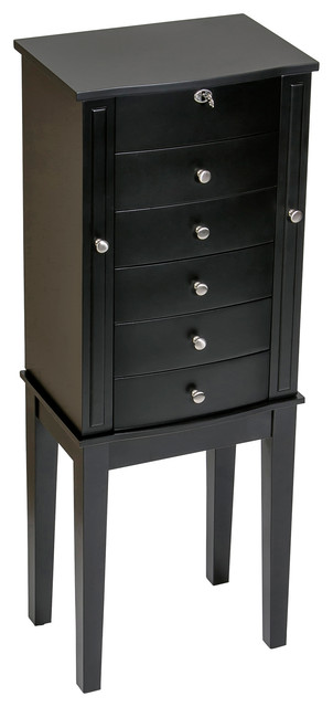 Mele And Co Paxton Wooden Jewelry Armoire Java Finish