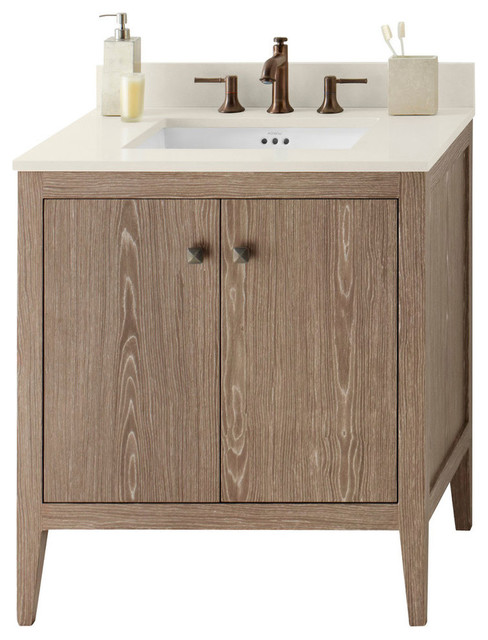 Ronbow Sophie Solid Wood 30 Vanity Cabinet Base Aged Oak