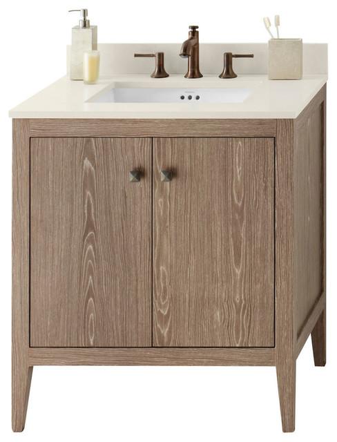Ronbow Sophie Solid Wood 30 Vanity Cabinet Base Aged Oak Transitional Bathroom Vanities