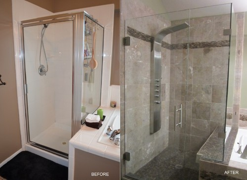 Master Bathroom Remodels Before And After recent master bathroom remodel