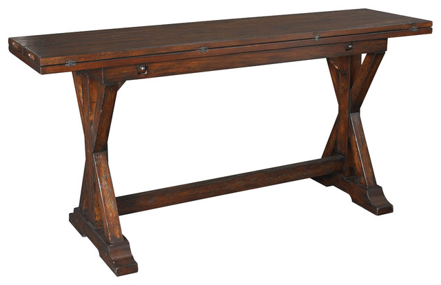 Good Hammary 090 276 Hidden Treasures Flip Top Console Table Traditional Console  Tables