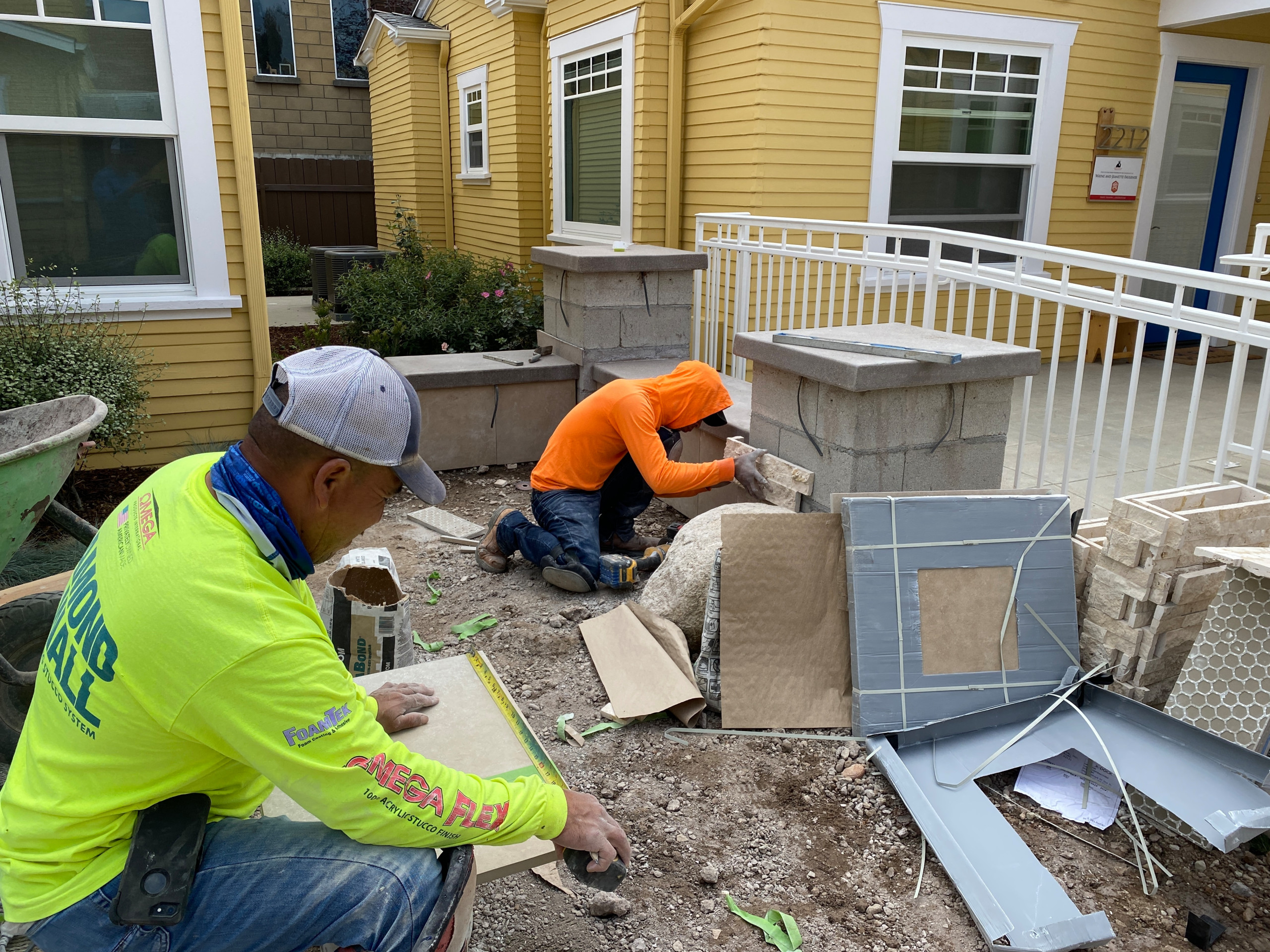 Building a Seat Bench and Pilasters in South Park