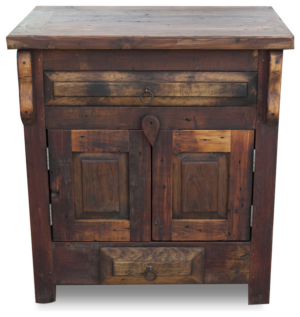 Attractive Reclaimed Wood Vanity, Single Sink, ...