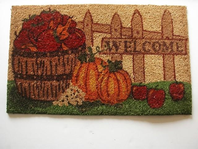 """""""welcome"""" Harvest Doormat."""