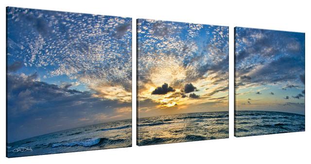 Ready2hangart Christopher Doherty &x27;ocean&x27; Canvas Wall Art (3 Piece).