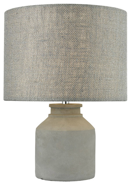 Asbury 1 Light Table Lamps, Cement And Dove.