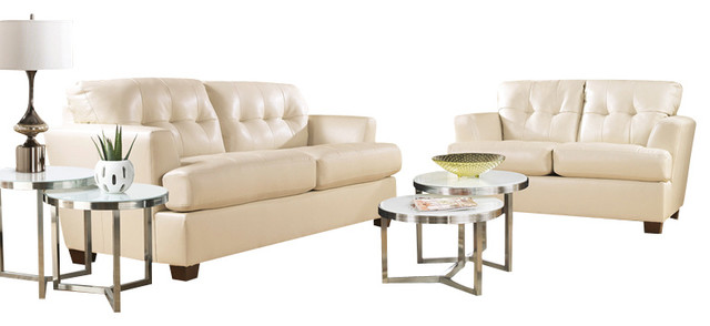 Signature Design by Ashley DuraBlend Ivory Living Room Set contemporary  living room