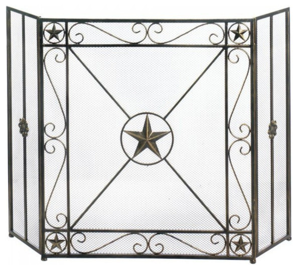 Western Star Fireplace Screen.