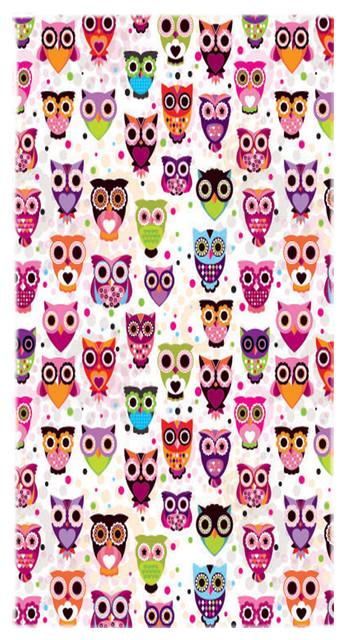 Owl Pattern Towel.