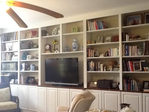 Paint Back Of Built In Bookshelves
