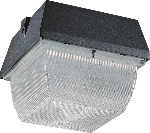Architectural Bronze 70W Metal Halide Exterior Wall or Ceiling Light - Contemporary - Outdoor ...