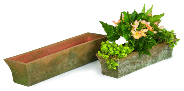 Mimi Aged Rectangular Planter