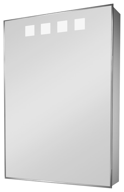 Large Mirrored Medicine Cabinet With Led And Shaver Socket, With Speakers.