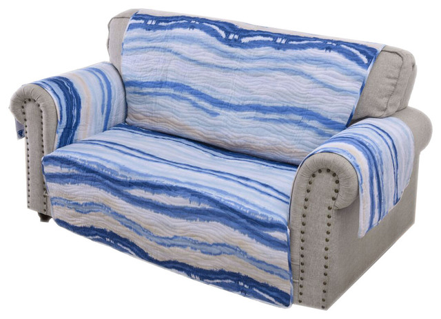 Awesome Barefoot Bungalow Crystal Cove Artisan Print Loveseat Furniture Protector 103X76 Machost Co Dining Chair Design Ideas Machostcouk