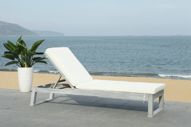 Solano Sunlounger - Transitional - Outdoor Chaise Lounges ... on Safavieh Outdoor Living Solano Sunlounger id=21550