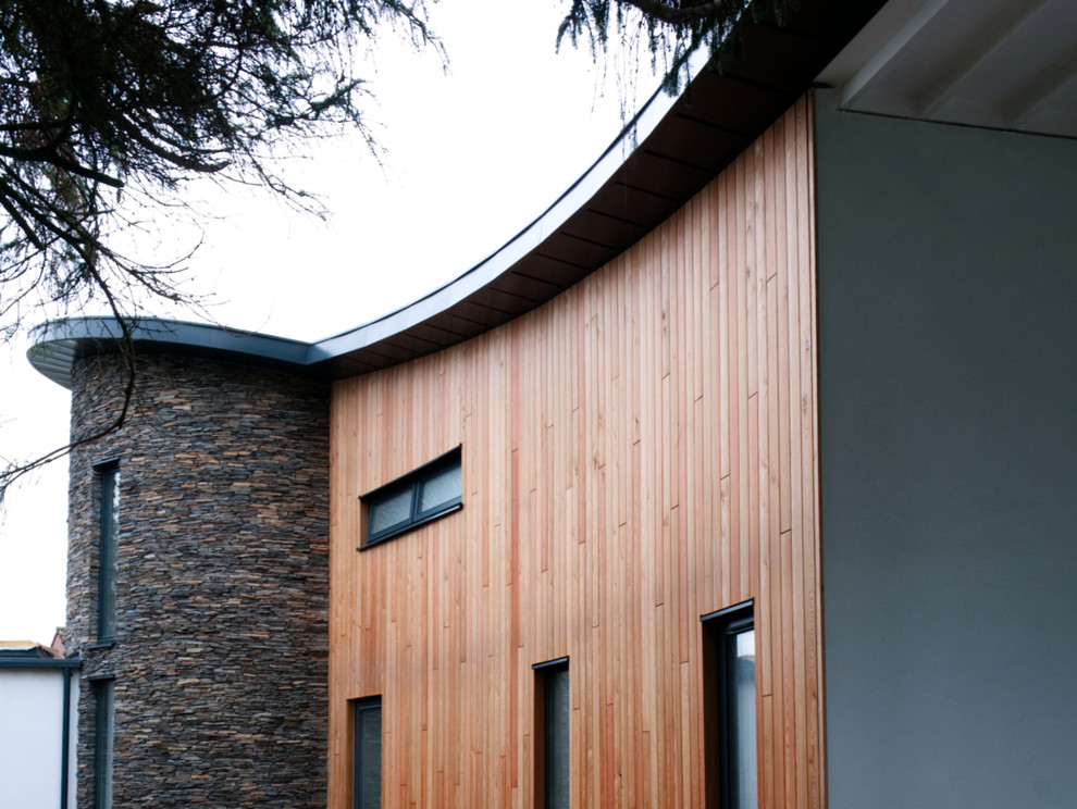 Timber clad North elevation