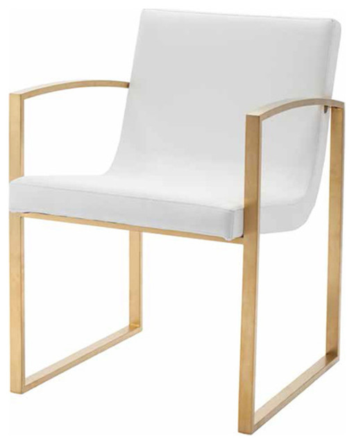 Nuevo Living Clara Dining Chair White Silver