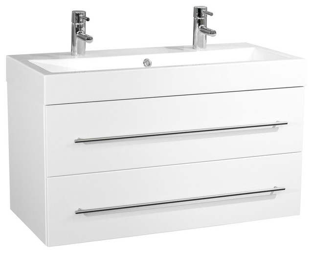 Emotion Sunrise Wall Mounted Bathroom Vanity Unit 100 Cm