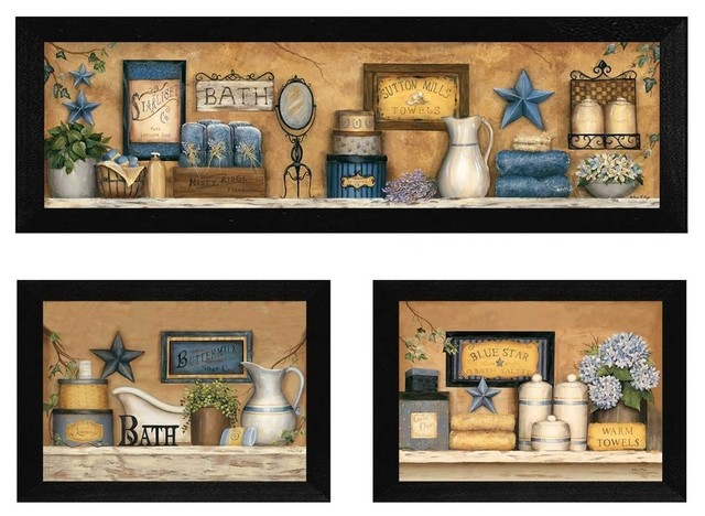 """""""bathroom Collection Iii"""" Collection By Carrie Knoff, Black Frame."""