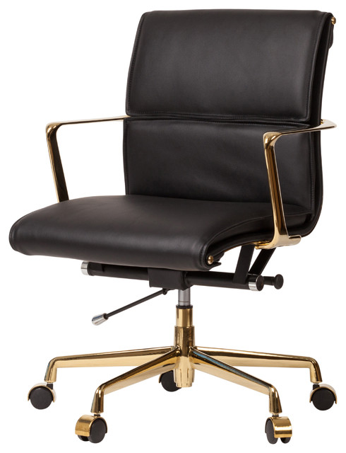 Admirable Cooper Modern Office Chair With Gold Base Black Ibusinesslaw Wood Chair Design Ideas Ibusinesslaworg