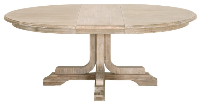 Torrey 60 Round Extension Dining Table, 60 Round Pedestal Dining Table With Leaf