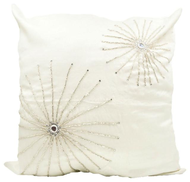 White Crystal Starburst Throw Pillow Cover Midcentury Decorative Fascinating Starburst Decorative Pillow